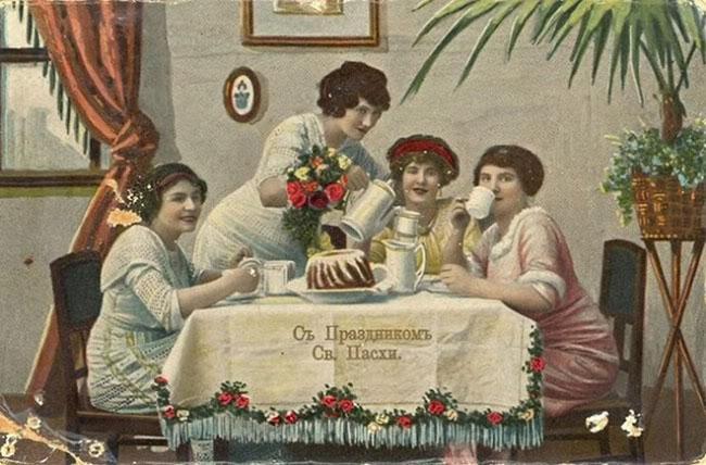 Старые открытки к Пасхе