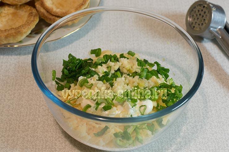 Сырная начинка для тарталеток
