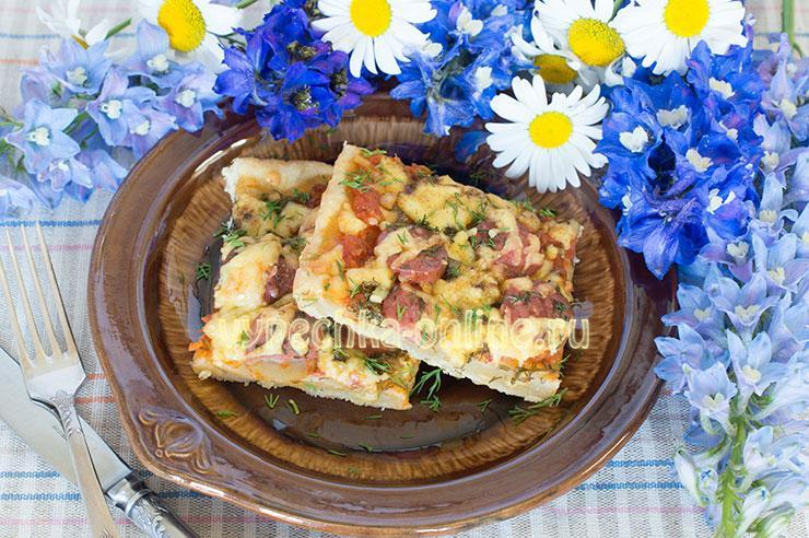 Пицца на кефире рецепт в домашних условиях в духовке