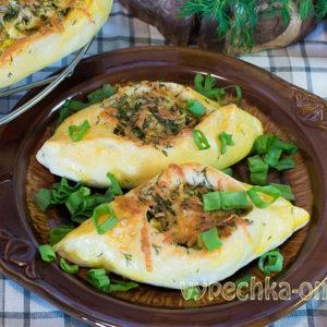 Лодочки с яйцом и сыром рецепт с фото