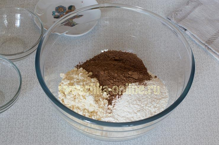 Мука, какао
