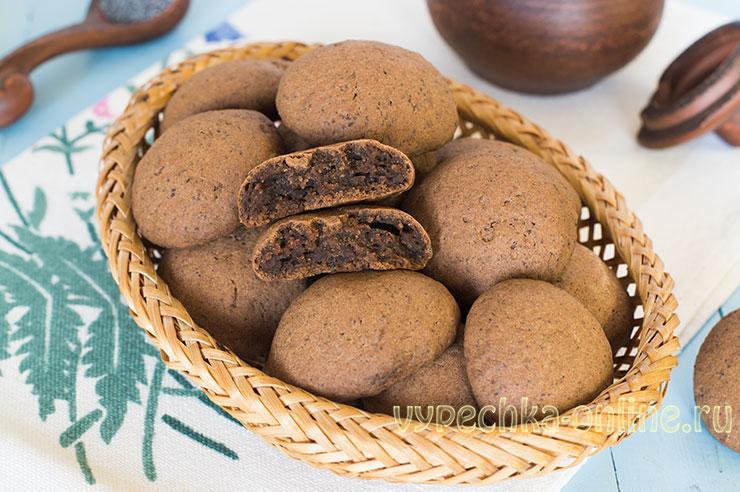 Печенье с какао порошком постное