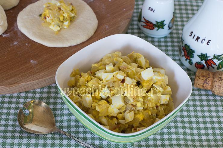 Лук с яйцом начинка для пирожков