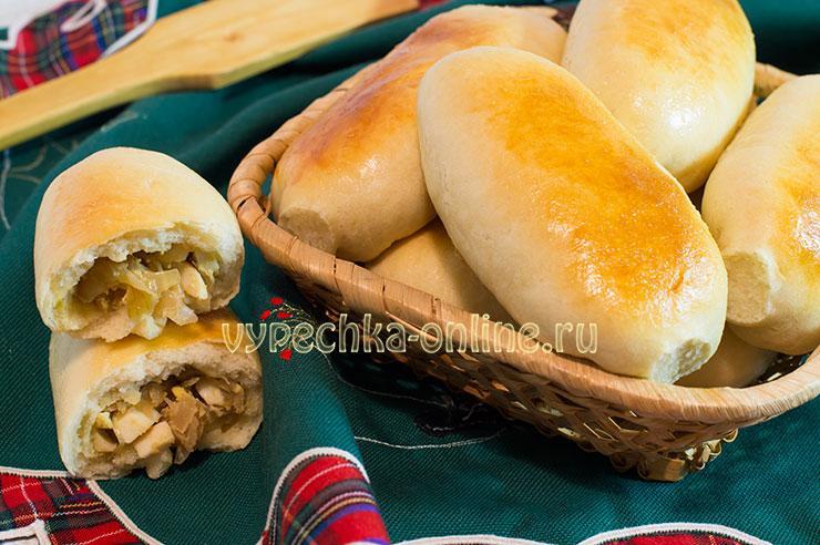 Пирожки с яйцом и капустой в духовке пошаговый рецепт с фото