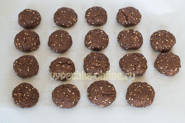 Шоколадно-кофейное печенье постное