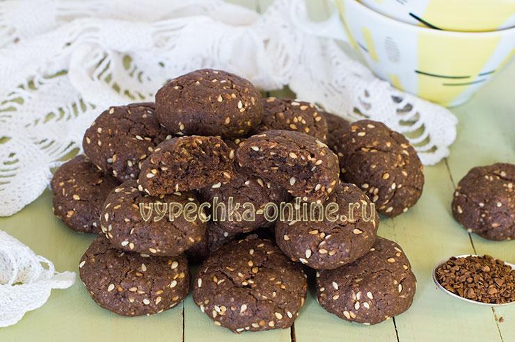 Печенье с кунжутом рецепт с фото пошагово