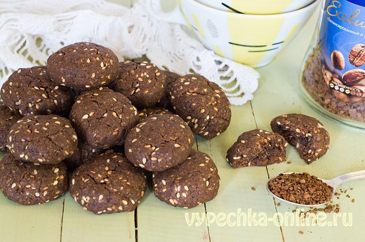 Печенье на подсолнечном масле с кунжутом — рецепт с фото пошагово