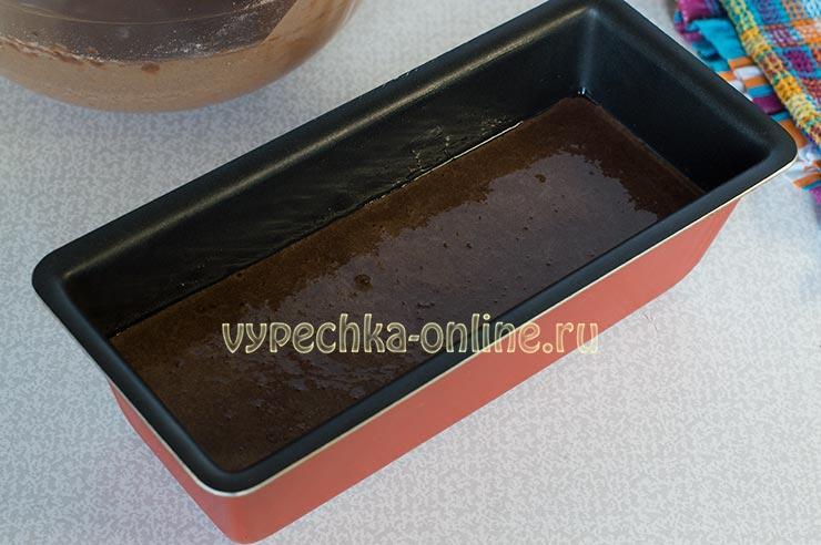 Шоколадный кекс на молоке в духовке