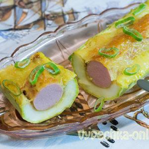 Кабачки с сосисками в духовке – рецепт лодочек из кабачков с фото пошагово