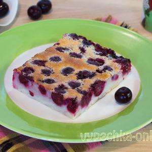 Клафути с вишней рецепт с фото пошагово (вишневый пирог в духовке)