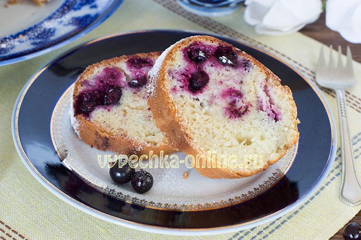 Манник на кефире с ягодами черной смородины в духовке: как сделать, рецепт с фото пошагово