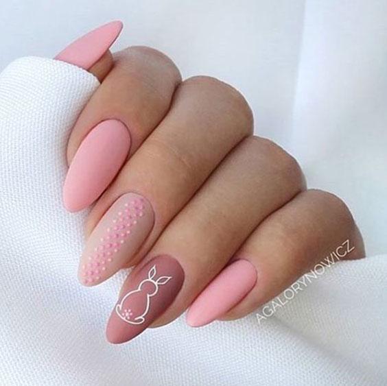 Розовые ногти, зайчик