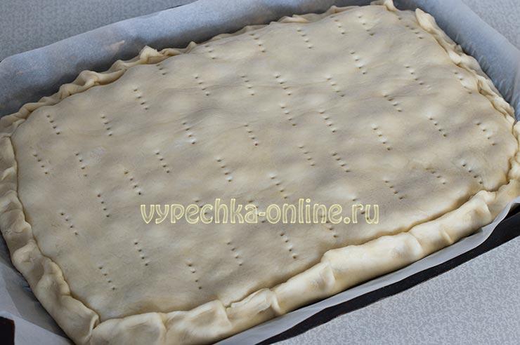 Вишнёвый пирог рецепт с фото из дрожжевого теста