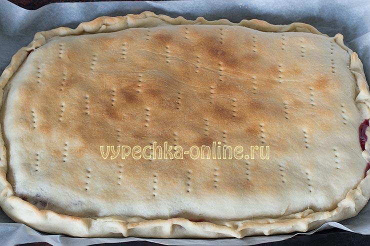 Вишнёвый пирог рецепт с фото пошагово в духовке