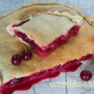 Вишнёвый пирог рецепт с фото пошагово в духовке из дрожжевого теста