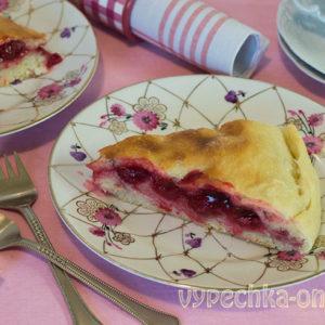 Пирог с вишней в духовке простой рецепт из дрожжевого теста