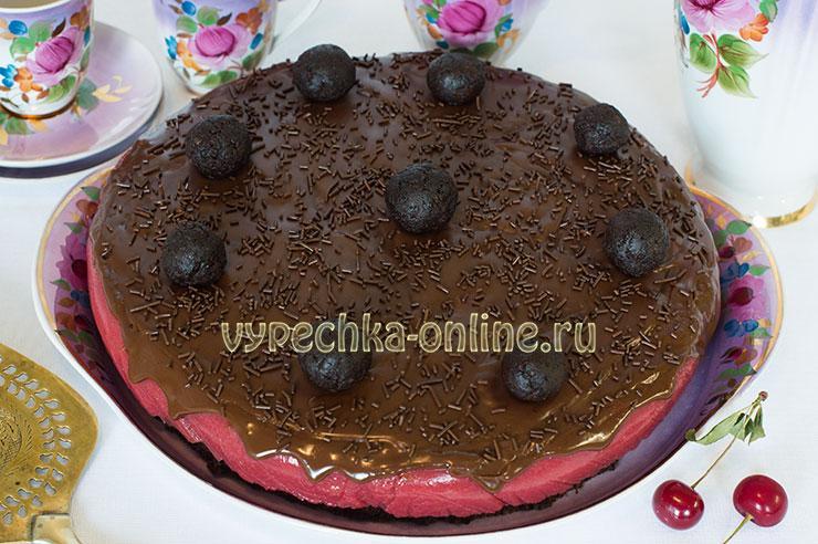 Шоколадный торт с вишней рецепт с фото пошагово в домашних условиях