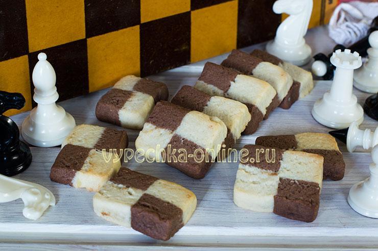 Шахматное печенье рецепт с фото пошагово в духовке (двухцветное, с какао и вареными желтками)