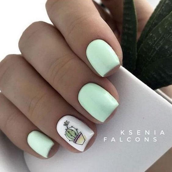 Ногти кактус
