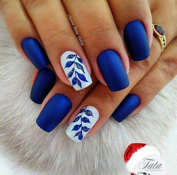 синий лак, листья