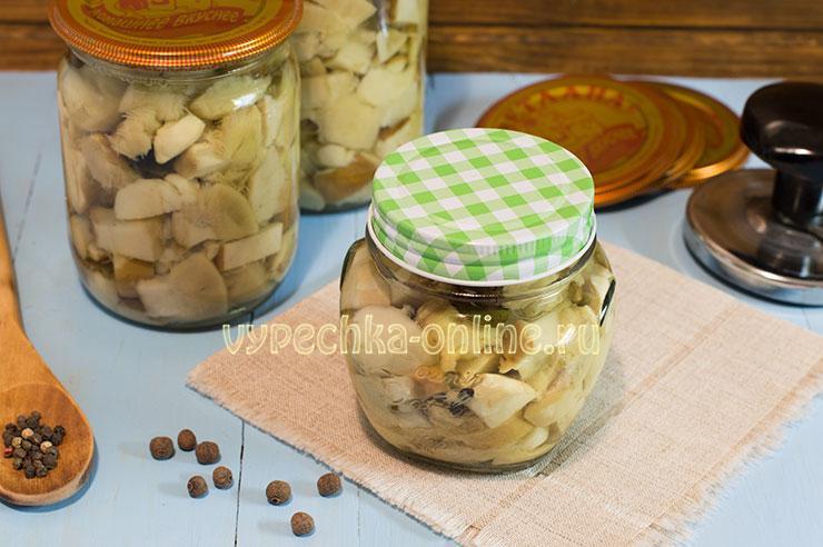 Грибы белые маринованные на зиму рецепт приготовления