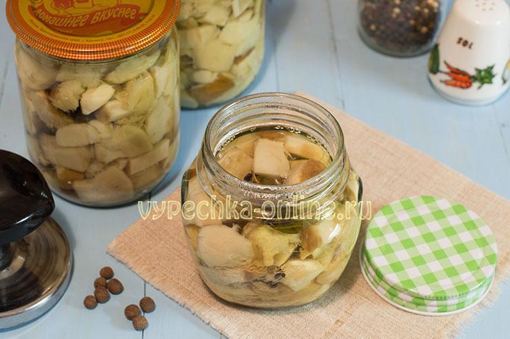 Маринованные белые грибы рецепт на зиму с уксусом