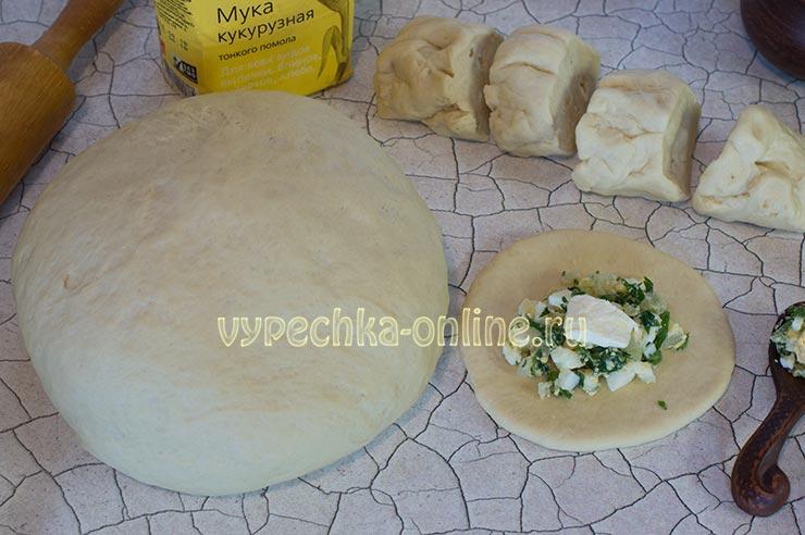 Дрожжевое тесто для пирожков с сухими дрожжами на молоке рецепт