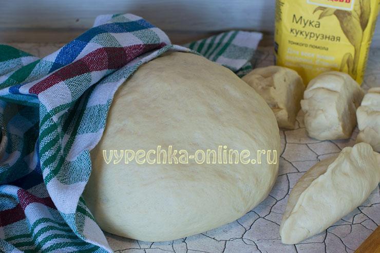 Дрожжевое тесто для пирожков с сухими дрожжами на молоке рецепт с кукурузной мукой