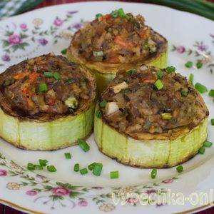 Кабачки с рыбой фаршированные, запеченные в духовке – рецепт быстро и вкусно