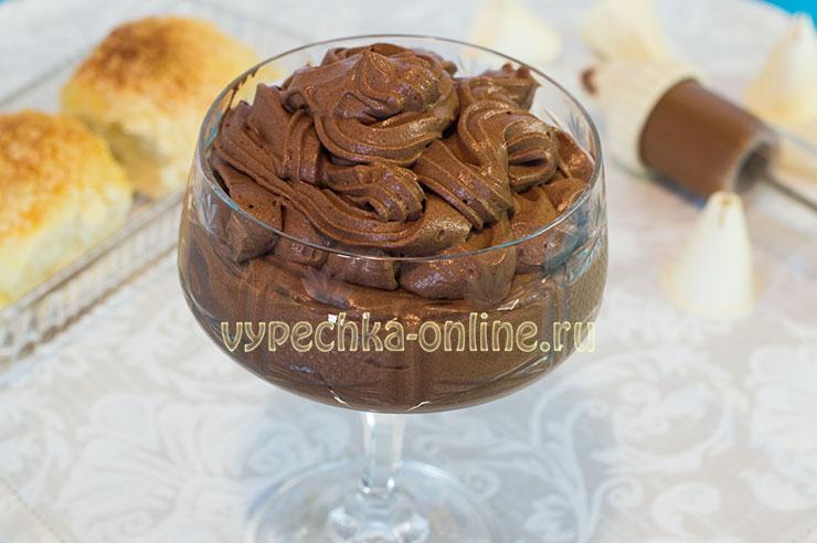Шоколадный крем для бисквитного торта рецепт из сливок и какао
