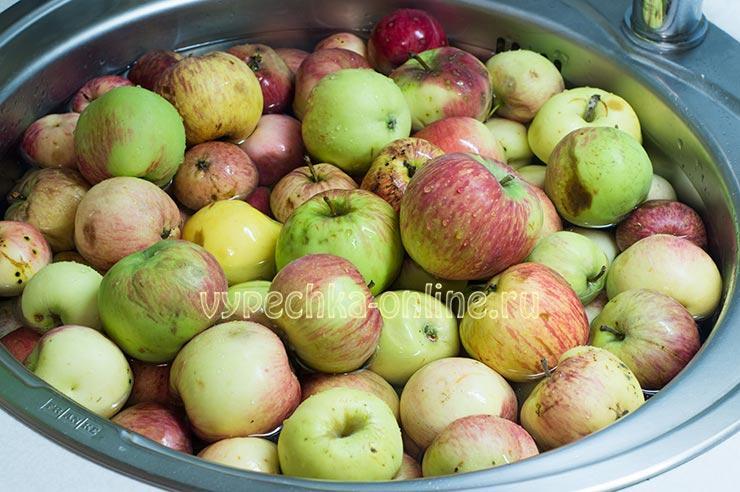 Яблоки для заготовок