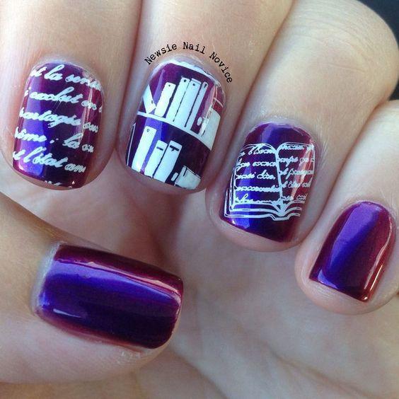 школьный дизайн ногтей гель лаком