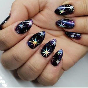 Маникюр со звездами (звездочки на ногтях) – дизайн, фото