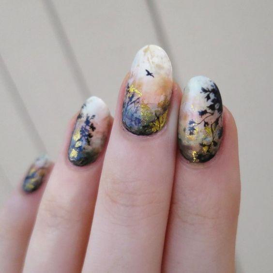 осенний маникюр 2019 фото ногти
