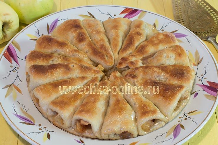 Отрывной пирог с яблоками