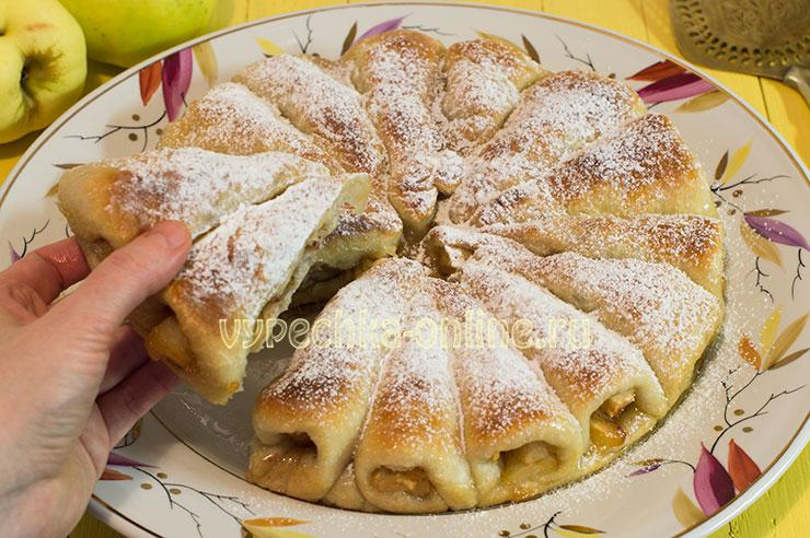 Отрывной пирог с яблоками вкусный