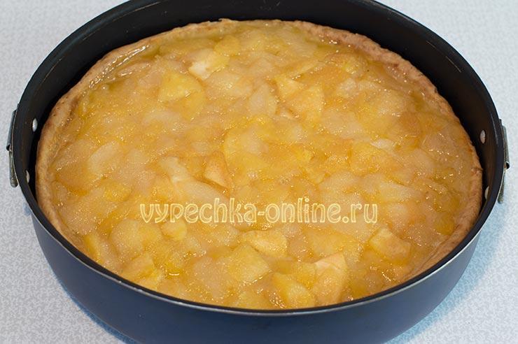 Пирог с яблоками и грушами в духовке