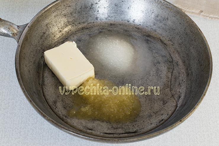 Масло, мед, сахар, вода