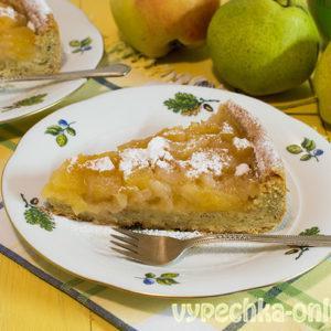 Пирог с яблоками и грушами в духовке, из песочного теста – рецепт с фото пошагово