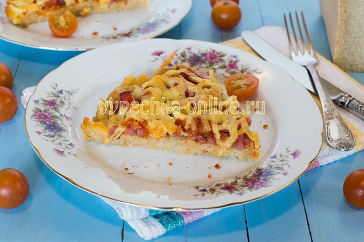 Пицца из хлеба в духовке (основа из мякиша) - рецепт с фото