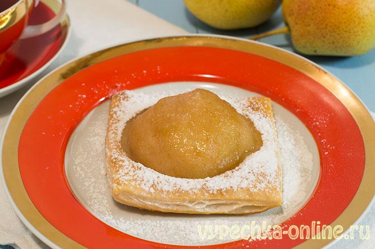 Слойки с грушей из слоеного теста бездрожжевого - рецепт с фото пошагово