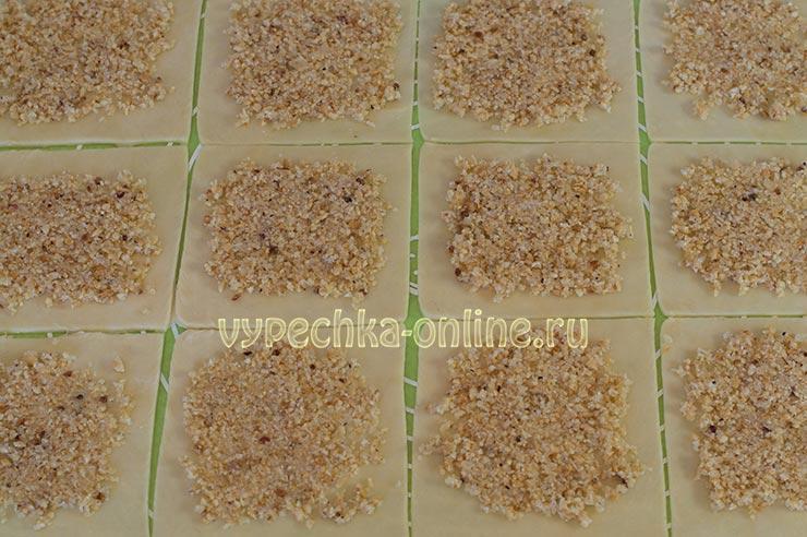Татарское печенье Бармак с орехами