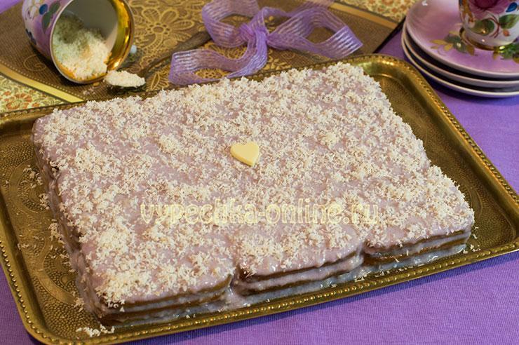 Торт из печенья без выпечки как сделать