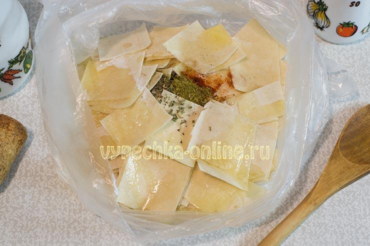 Чипсы из лаваша с сыром в духовке рецепт
