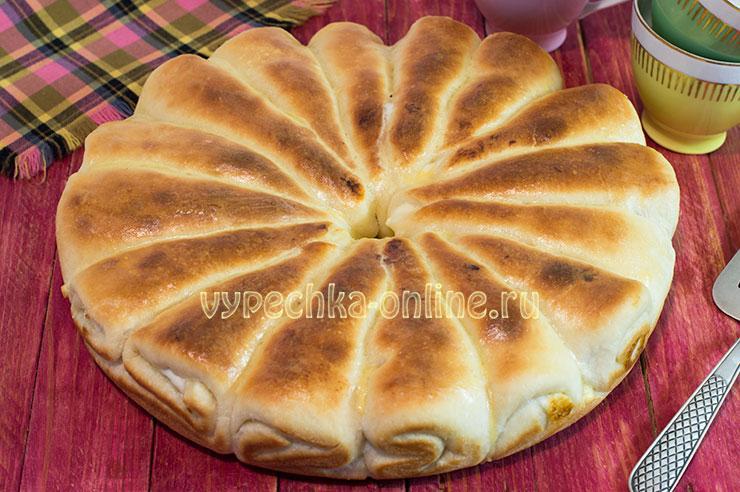 Отрывной пирог с творогом