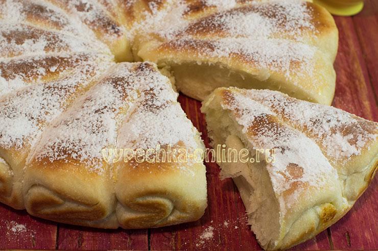 Творожный пирог в духовке рецепт с фото