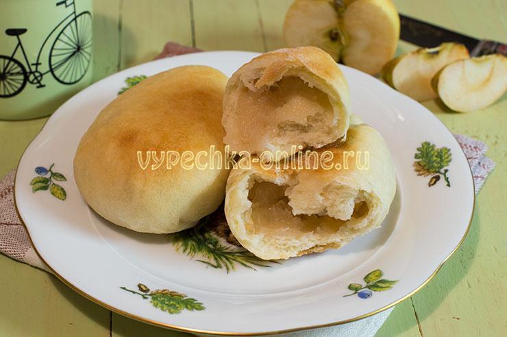 Пирожки с яблоками в духовке из дрожжевого теста постные мягкие пошаговый рецепт с фото