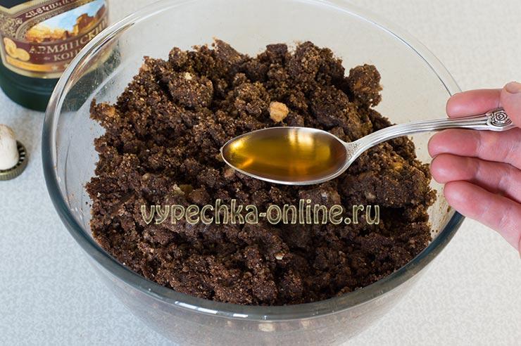 Шоколадная колбаса из печенья пошаговый рецепт с фото