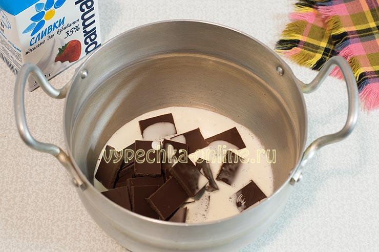 Сливки, шоколад