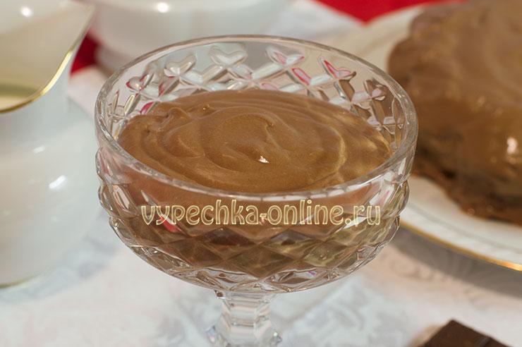 Шоколадный крем с маскарпоне для торта